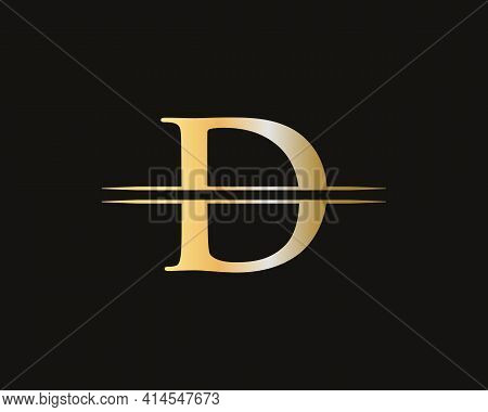 Creative D Letter With Luxury Concept. Modern D Logo Design For Business And Company Identity. D Log