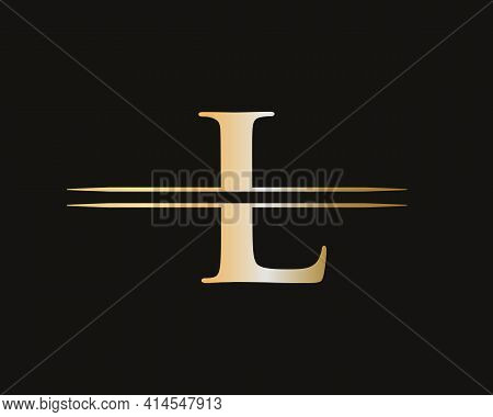 Creative L Letter With Luxury Concept. Modern L Logo Design For Business And Company Identity