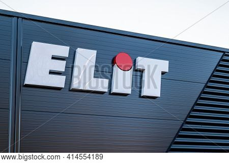 Ostrava, Czech Republic - December 27, 2020: The Logo Of The Elit Company Which Delivers Spare Parts