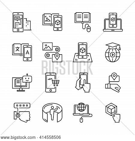 Technologies Icons Set Inline Style. Vector Illustration. Eps 10