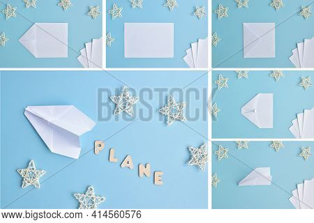 Diy. A Homemade Airplane Made Of Paper. Step-by-step Instructions. Top View. Diy Airplane Made Of Pa