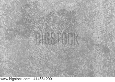 Galvanized Iron With Dirty Spot, Light Metal Texture Background.
