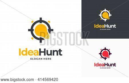 Idea Hunter Logo Designs Concept Vector, Inspiration Logo Designs Template Sign