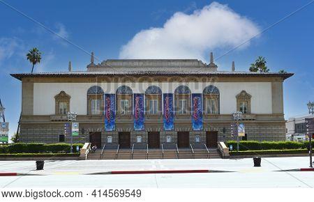 PASADENA, CALIFORNIA - 26 MAR 2021: The Pasadena Civic Auditorium. The Civic hosts the NAACP Image Awards, Daytime Emmy Awards, America's Got Talent and cultural performances.