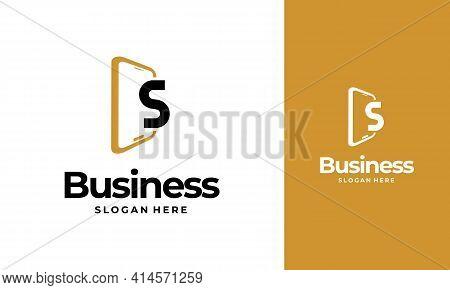 S-initial Phone Logo Designs, Phone Shop Logo Designs, Modern Phone Logo Designs Vector Icon
