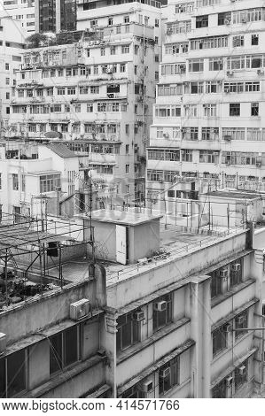 Old Residential Building In Hong Kong City