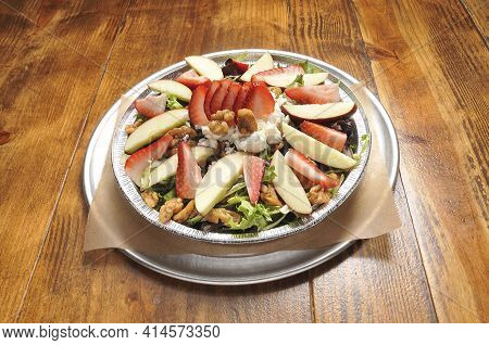 Delicious And Delectable Dish Known As A Waldorf Salad