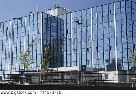 Amsterdam, Netherlands - July 02, 2018: Hotel On The Waterfront Of Amsterdam