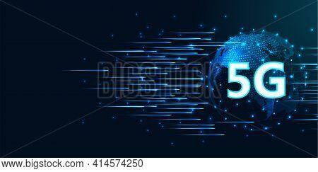 5g High Speed Concept Design.5g Wireless High Speed  Internet Network Connection Information Technol