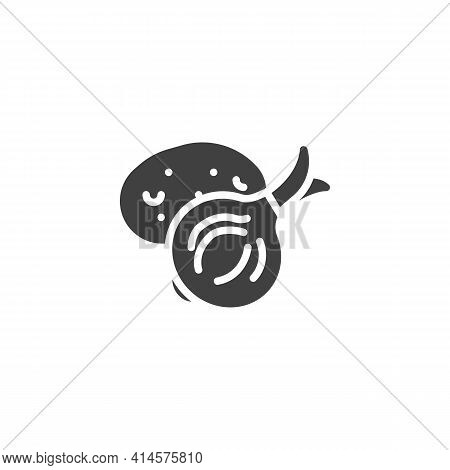Potato And Onion Vector Icon. Filled Flat Sign For Mobile Concept And Web Design. Fresh Vegetable, O