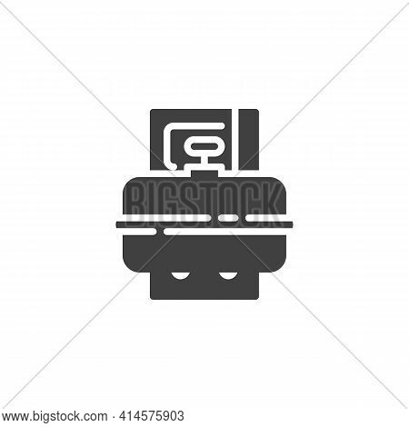 Propane Gas Cylinder Vector Icon. Filled Flat Sign For Mobile Concept And Web Design. Cooking Gas Cy