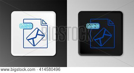 Line Msg File Document. Download Msg Button Icon Isolated On Grey Background. Msg File Symbol. Color