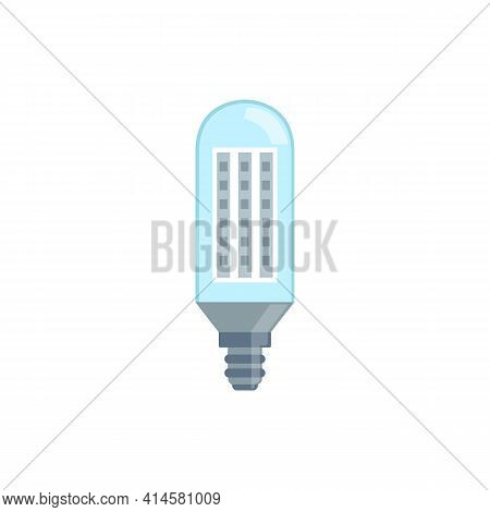 Incandescent Energy Saving Halogen Light Bulb Vector Illustration Isolated.