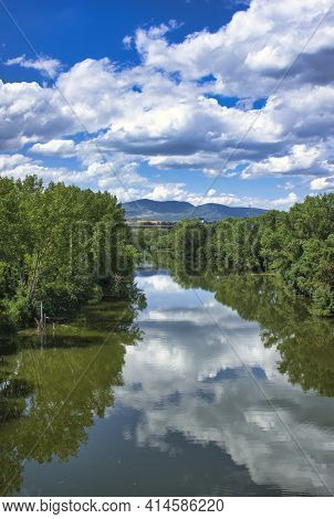 The Camino De Santiago As It Passes Through Puente La Reina, Navarra