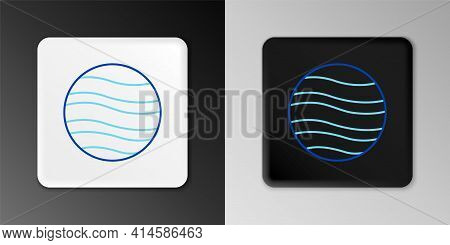 Line Planet Jupiter Icon Isolated On Grey Background. Colorful Outline Concept. Vector