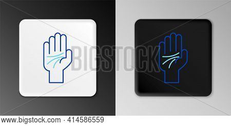 Line Palmistry Of The Hand Icon Isolated On Grey Background. Colorful Outline Concept. Vector