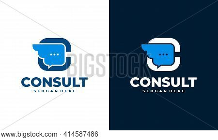 Talk Fly Logo Designs Icon, Fast Consult Logo Template Designs Concept Vector