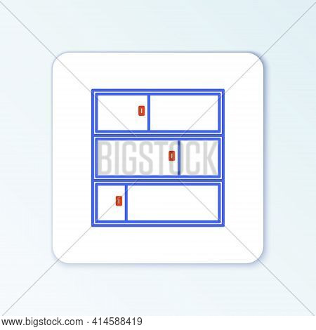 Line Shelf Icon Isolated On White Background. Shelves Sign. Colorful Outline Concept. Vector