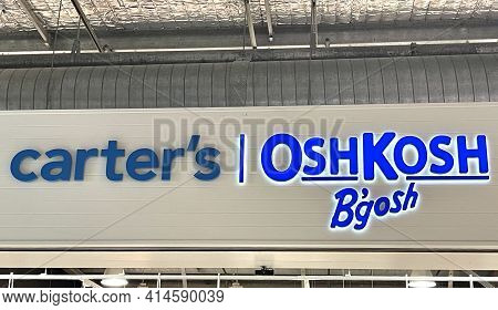 Brisbane, Australia - March 25, 2021: Carters / Oshkosh Bgosh Are Two Of The Oldest Of Baby And Chil