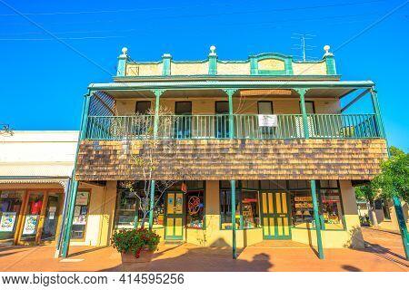 York, Australia - Dec 25, 2017: Front View Of Jules Shoppe, Takeaway In York Center, Avon Terrace. Y