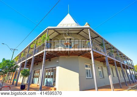 York, Australia - Dec 25, 2017: The York Palace Corner On Avon Terrace, Constructed In 1909, Is One
