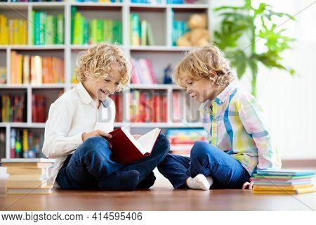 Child Reading Book. Kids Read. School Education.