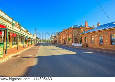 York, Australia - Dec 25, 2017: Gift Shop, Store And York Courthouse Complex On Avon Terrace In York