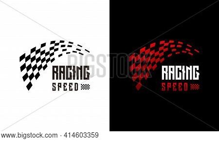 Fast Racing Speed Designs Concept Vector, Simple Racing Flag Logo Template