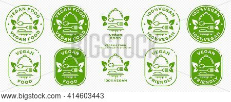 Concept For Product Packaging. Labeling - Vegan Food. Cloche With Cutlery - Fork, Knife And Spoon Wi