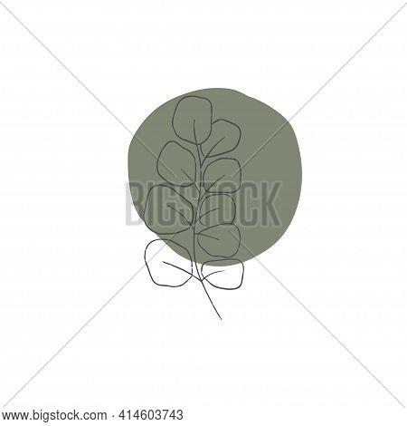 Abstract Trendy Botanical Vector Illustration. Contemporary Art, Modern Print, Floral Wall Art, Boho