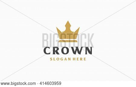 Simple Luxury Crown Logo Template Vector Illustration