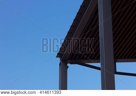 Metal Structure On A Blue Sky Background
