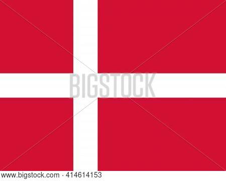 Denmark National Flag, Danish National Official Flag.