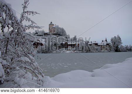 Winter Time At The Castle Werdenberg In Buchs In Switzerland 15.1.2021