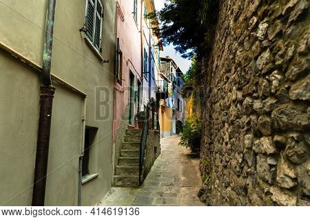 Portovenere, Liguria, Italy. June 2020. Typical Secondary Alley In The Heart Of The Country: They Ar