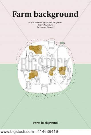 Sample Brochure. Agricultural Background. Cows In The Pasture.