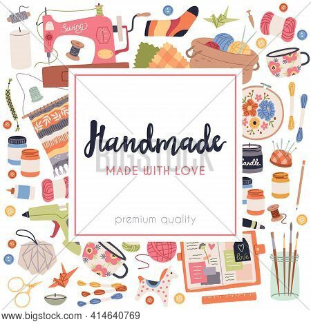 Handmade Crafts. Art Accessories And Materials, Hobby Tools, Cozy Creative Products. Embroidery, Wea