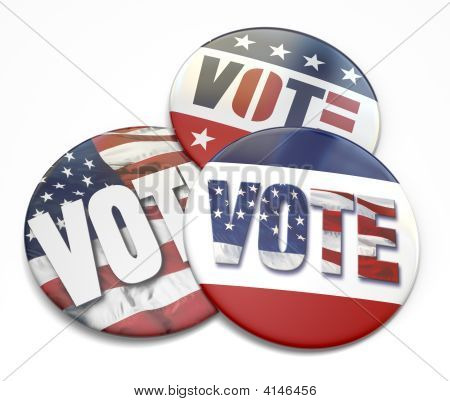 Vote Buttons On White . . .