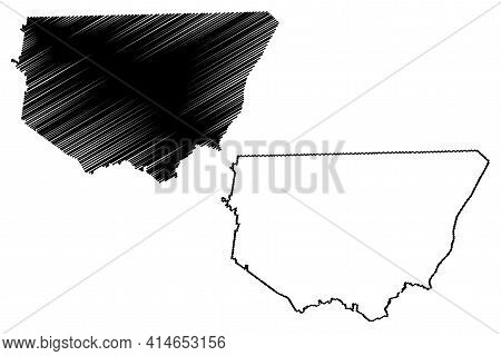 Robertson County, State Of Tennessee (u.s. County, United States Of America, Usa, U.s., Us) Map Vect