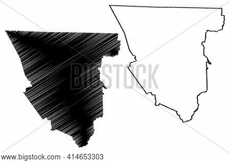 Scott County, State Of Tennessee (u.s. County, United States Of America, Usa, U.s., Us) Map Vector I