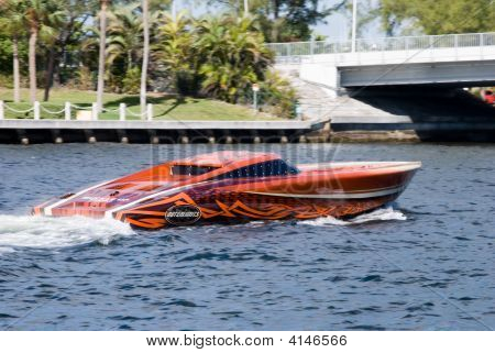 Speed Boat In Florida