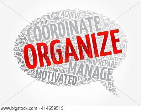 Organize Message Bubble Word Cloud, Business Concept Background