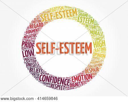 Self-esteem - Word Cloud Collage, Concept Background