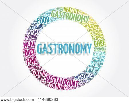 Gastronomy - Word Cloud Collage, Concept Background
