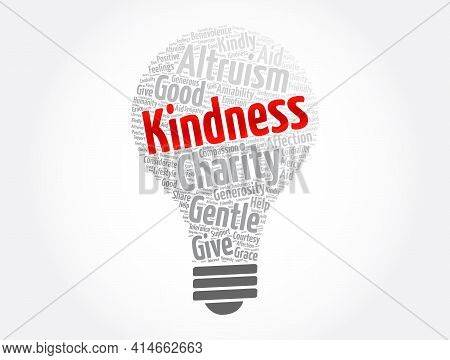 Kindness - Word Cloud Collage, Concept Background