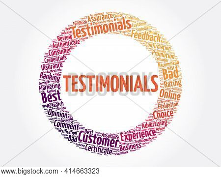 Testimonials - Word Cloud Collage, Concept Background