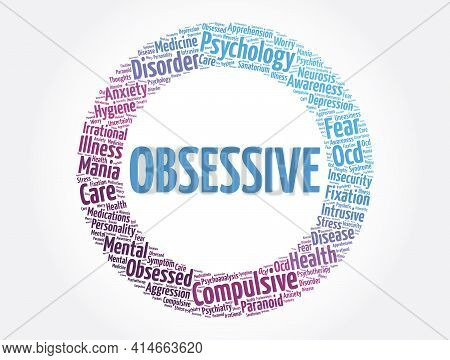 Obsessive Word Cloud Collage, Health Concept Background
