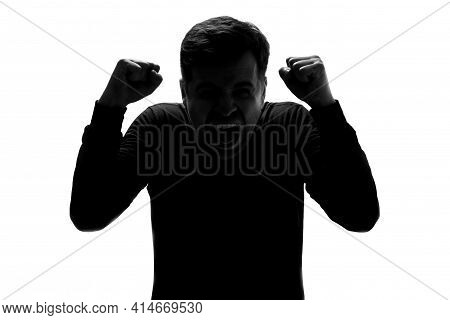 Irritated Angry Mad Millennial Guy Clenching Hands In Fists, Demonstrating Aggressive Mood
