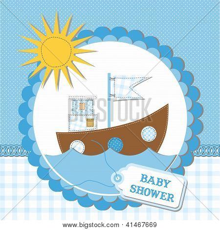 Baby Shower Card Design. Vector Illustration