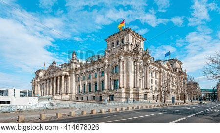 The Famous Reichstag Building In Berlin, Germany